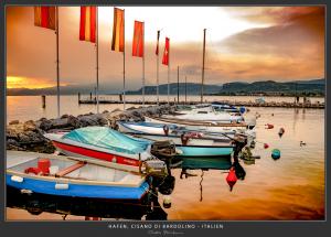 Hafen, Cisano di Bardolino - Italien